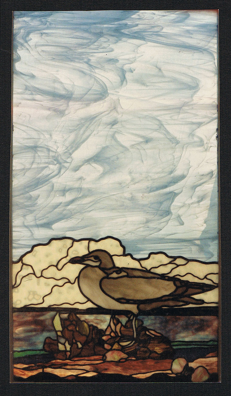 stained glass seascape