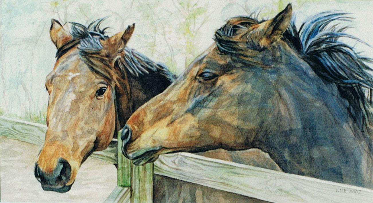 horse painting portraits - mares - Vivian